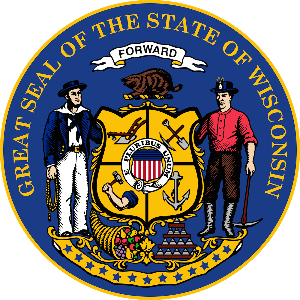 Wisconsin State Seal.