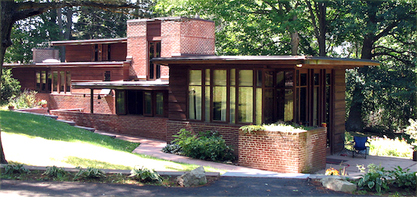 A Frank Loydd Wright designed home in Wausau's Andrew Warren Historic District.