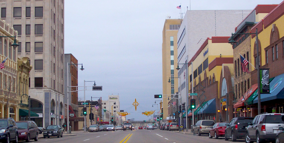 Downtown Appleton, Wisconsin.