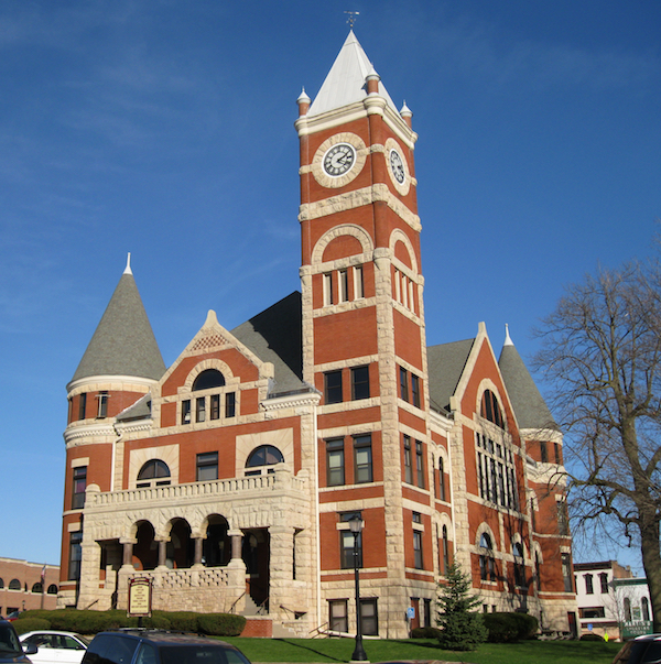 The Green County Courthouse in Monroe, Wisconsin.