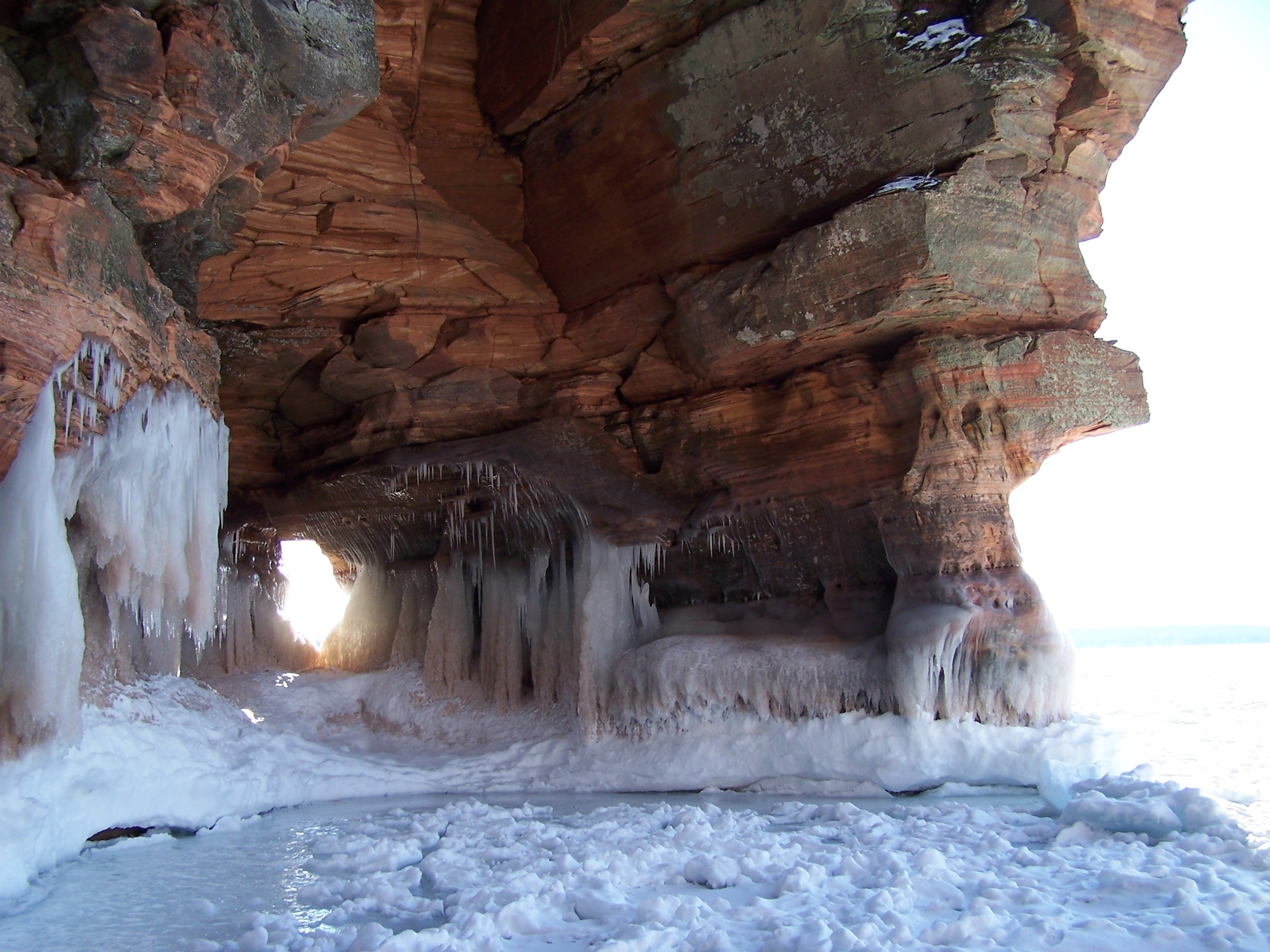 ice Caves in Apostle Islands.