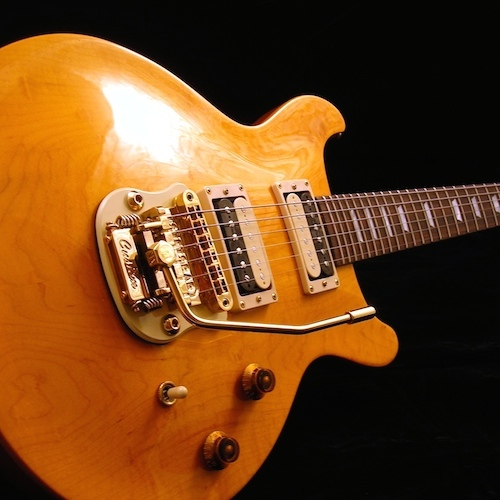 Gibson Les Paul DC with Gold Stetsbar.