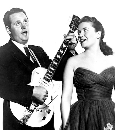 Les Paul with Mary Ford in 1954.