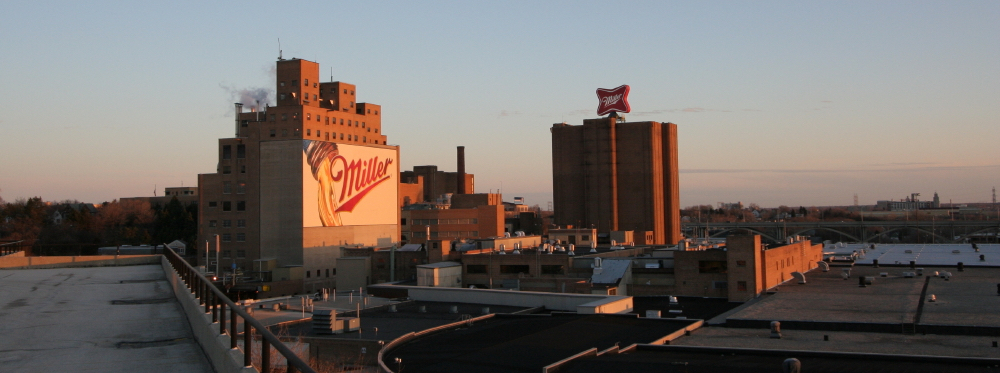 The Miller Brewery in Milwaukee.