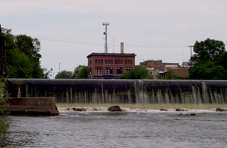 Watertown, Wisconsin dam on Rock River.